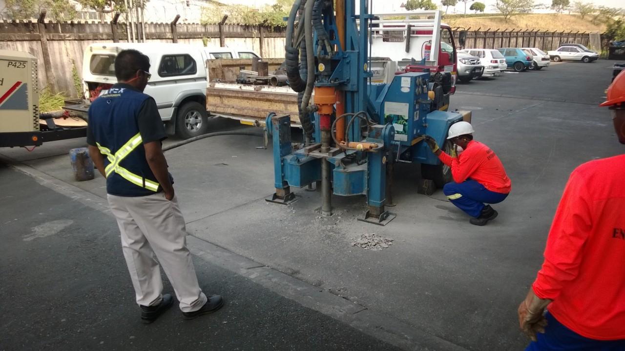 Underground Solvent Storage Tank - Waseem testing well drilling
